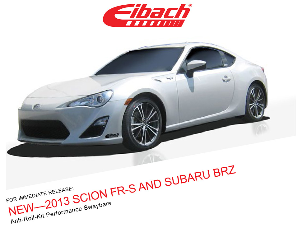 Worksheet. Product Releases  2013 SCION FRS AND SUBARU BRZ  ANTIROLLKIT