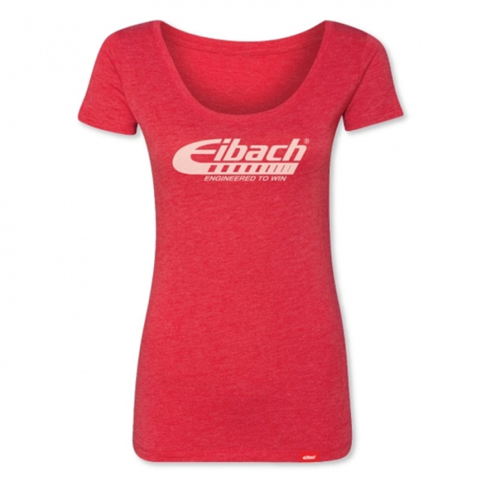Apparel - T-Shirts - T-SHIRT WOMENS Eibach Engineered To Win - Heather Red
