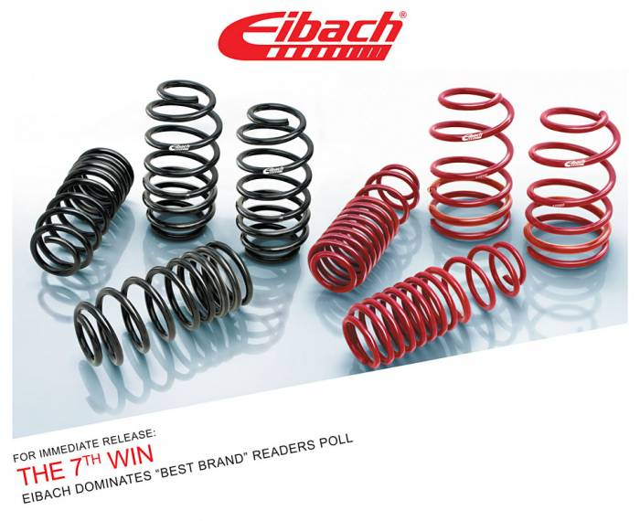 "Product Releases  - THE 7TH WIN - EIBACH Dominates ""BEST BRAND"" Readers Poll"