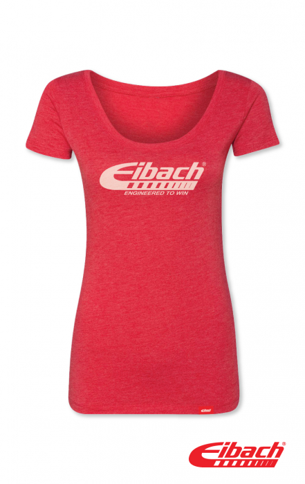 Apparel - T-SHIRT WOMENS Eibach Engineered To Win - Heather Red