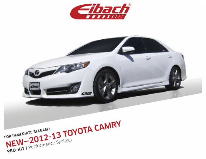 Product Releases  - 2012-13 TOYOTA CAMRY - PRO-KIT